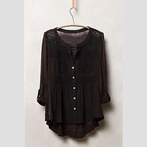 Anthropologie Lace Eiley Smocked Blouse